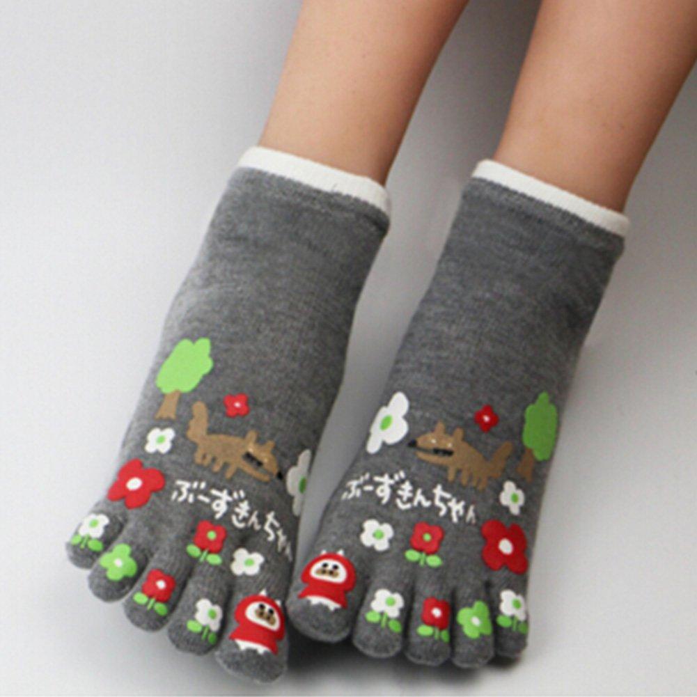 Womens Cotton Toe Socks Barefoot Ventilate Sports Socks, 1 Pair NO.15