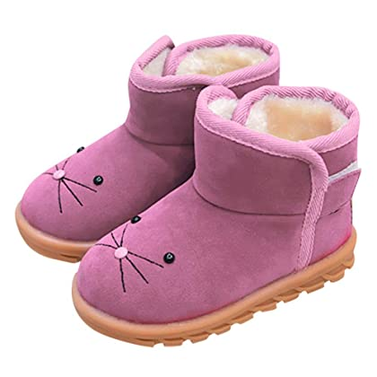 812132bed21 Baby Toddler Girls Boys Snow Boots Winter Warm Shoes 1-6 Years Old ❤ Kids  Fashion Cute Cartoon Casual Shoes (2-2.5 Years Old