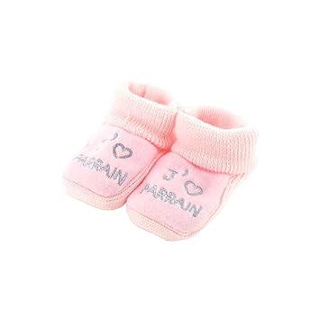 Chaussons pour bébé 0 à 3 Mois blanc - J'aime marraine mRclyvfTfG