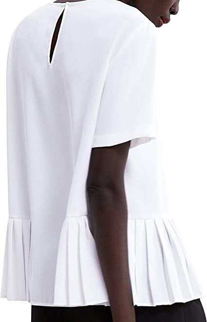 Zara 9479/053/251 - Camiseta para Mujer con Dobladillo ...