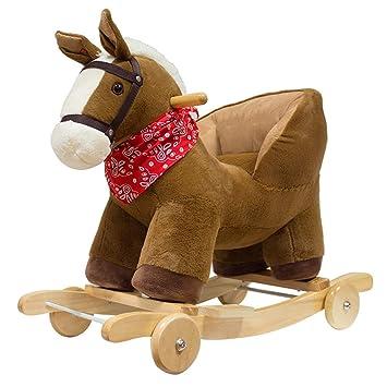 Schaukelpferd Festes Holz Kleines Holz Pferd Kinder Schaukelpferd
