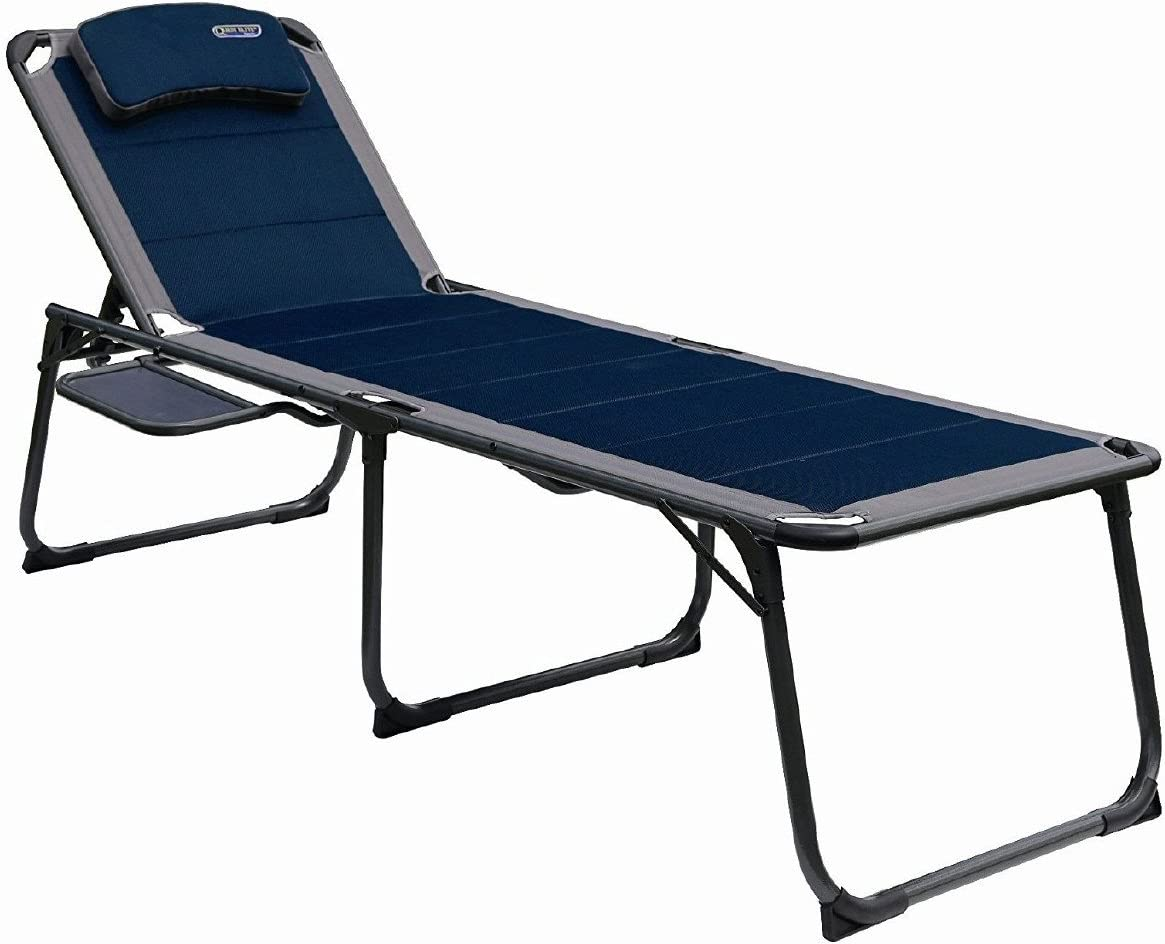 Quest Elite Ragley Pro Range Padded Lounger and Camp Bed with Side Table