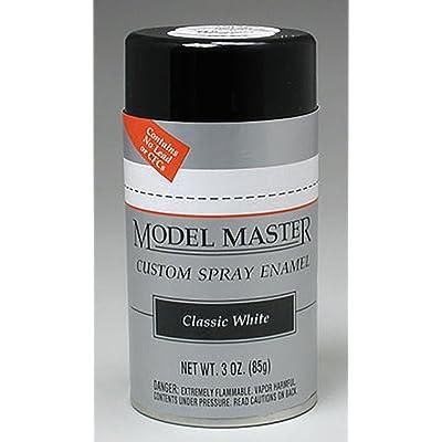 Testors Model Master Automotive Enamel Classic White Spray: Toys & Games