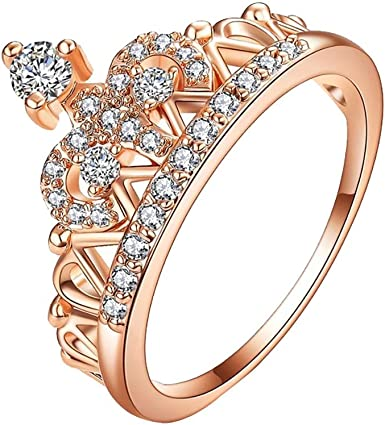 Amazon Com Londony Crystal Wedding Ring For Women Natural