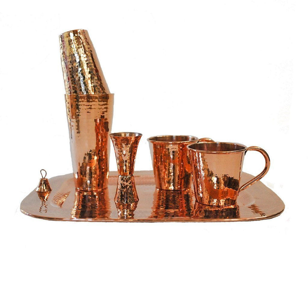Sertodo Copper Cocktail Moscow Mule Large Set, 12 oz. , Copper