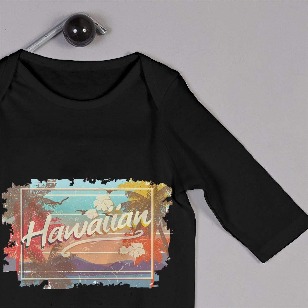 Hawaiian Islands Art Design Newborn Baby Boy Girl Romper Jumpsuit Long Sleeve Bodysuit Overalls Outfits Clothes
