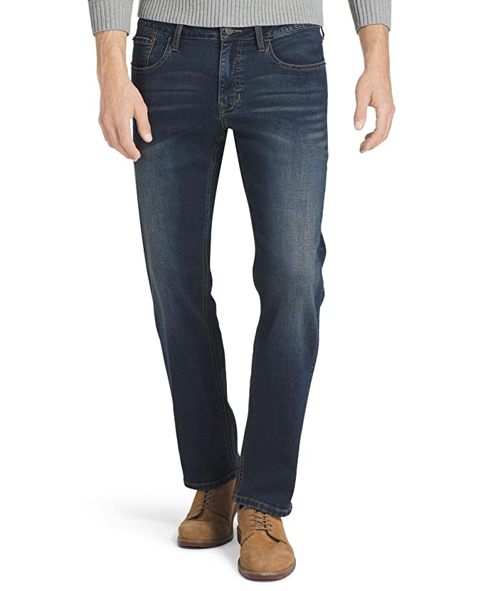 IZOD Men's Comfort Stretch Denim Jeans (Regular,Straight, and Relaxed Fit), Lux Soft Blue, 30x30 best men's denim jeans