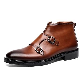 73c9b9df2703 Homme Classique Commercial Leather Chaussures en Cuir pour Hommes  Chaussures à Lacets Martin Boots à Bout