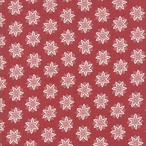 Moda Fabrics French General Fleur de Noel Rouge Anemone