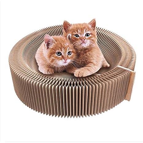 Mallalah Muebles para Gatos Sofá Rascador Plegable para Gato Plegable Cato con Rascador Gatos Juguete