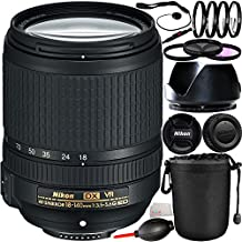 Nikon 18-140mm F/3.5-5.6G ED VR AF-S DX Nikkor Zoom Lens (White Box) with 14PC Accessory Kit
