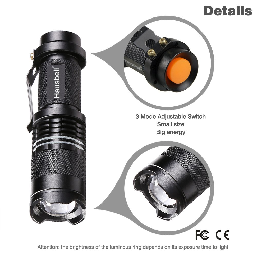 Hausbell 7W Mini LED Flashlight (6 Pack) by Hausbell (Image #3)