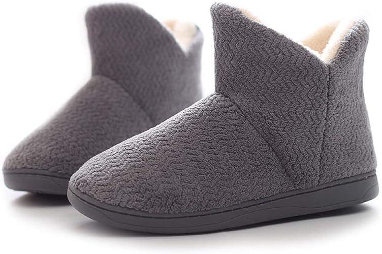 Zapatillas De Algodón De Invierno Suela Gruesa para Mujer Botas De ...