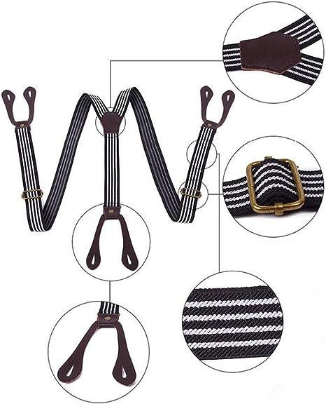 Xianheng Tirantes de Traje Ajustables de Forma Y con Botones Elegente Unisex Para Hombre y Mujer