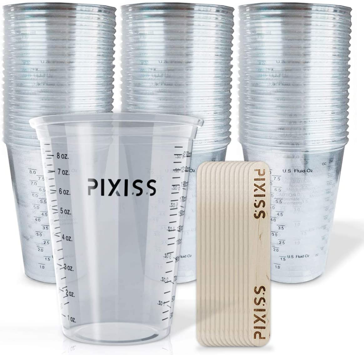 Epoxy Resin Mixing Cups Clear Plastic 10-Ounce
