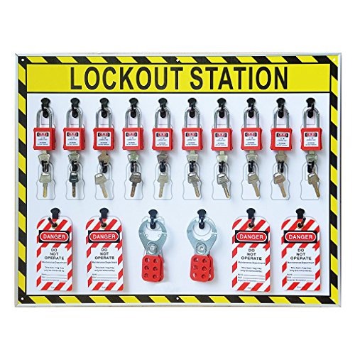 Wotefusi Industrial Security Lockout Station/Center for Safety Padlocks,Unfilled, Station Only by Wotefusi (Image #3)