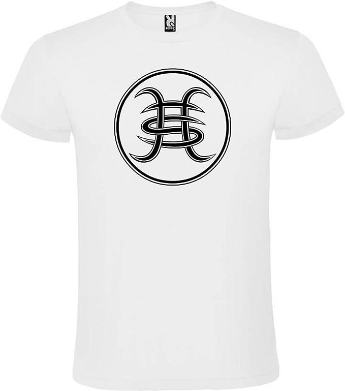 ROLY Camiseta Blanca con Logotipo Héroes del Silencio Hombre 100 ...