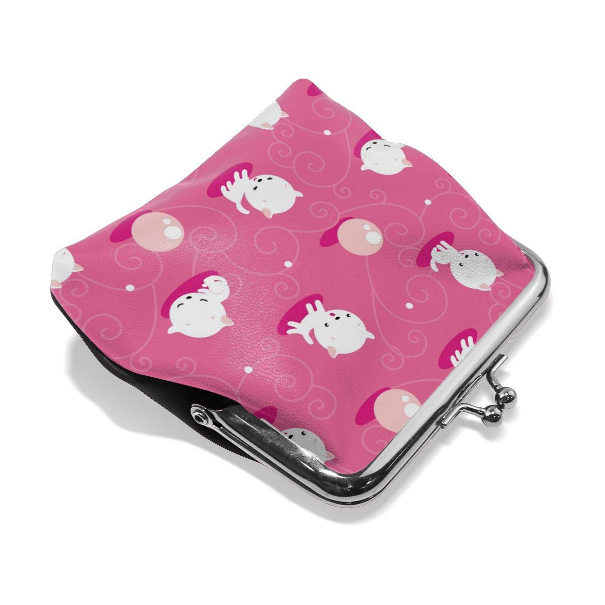 Retro Cats Credit Cards Buckle Coin Purse For Womens