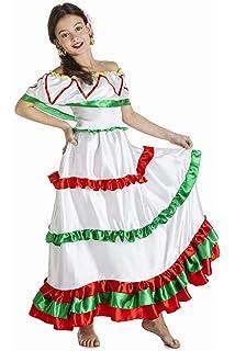 Disfraz de Mariachi Mexicana para niña: Amazon.es: Juguetes y juegos