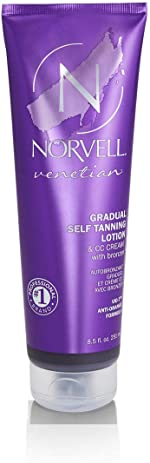 Norvell Venetian Sunless CC Tanning Color Extender Moisturizing Lotion with Violet