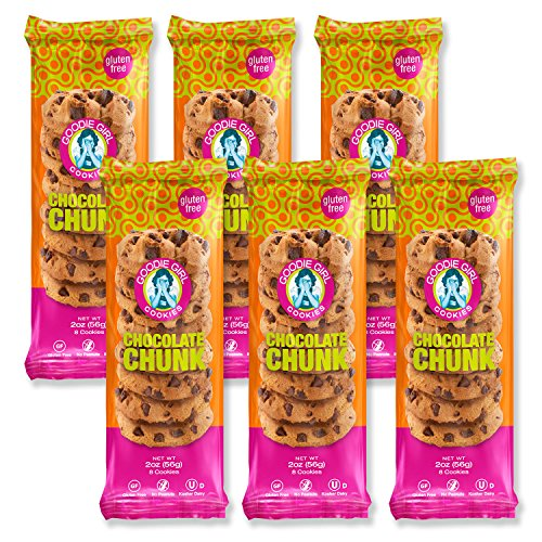 Goodie Girl Cookies Chocolate Chunk Chip Crunchy Individually Wrapped Snack Pack Cookies, Peanut Free and Gluten Free Cookies (2oz Bags, Pack of (Goodie Goodie)