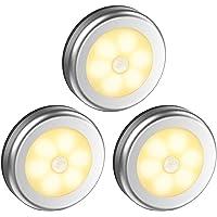Dewanxin nachtlampje met bewegingsmelder, 6 leds, voor in de hal, slaapkamer, keuken