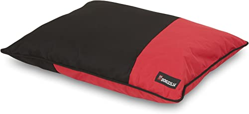 Petmate Dogzilla Pillow Bed, 27 X 36, Red Black
