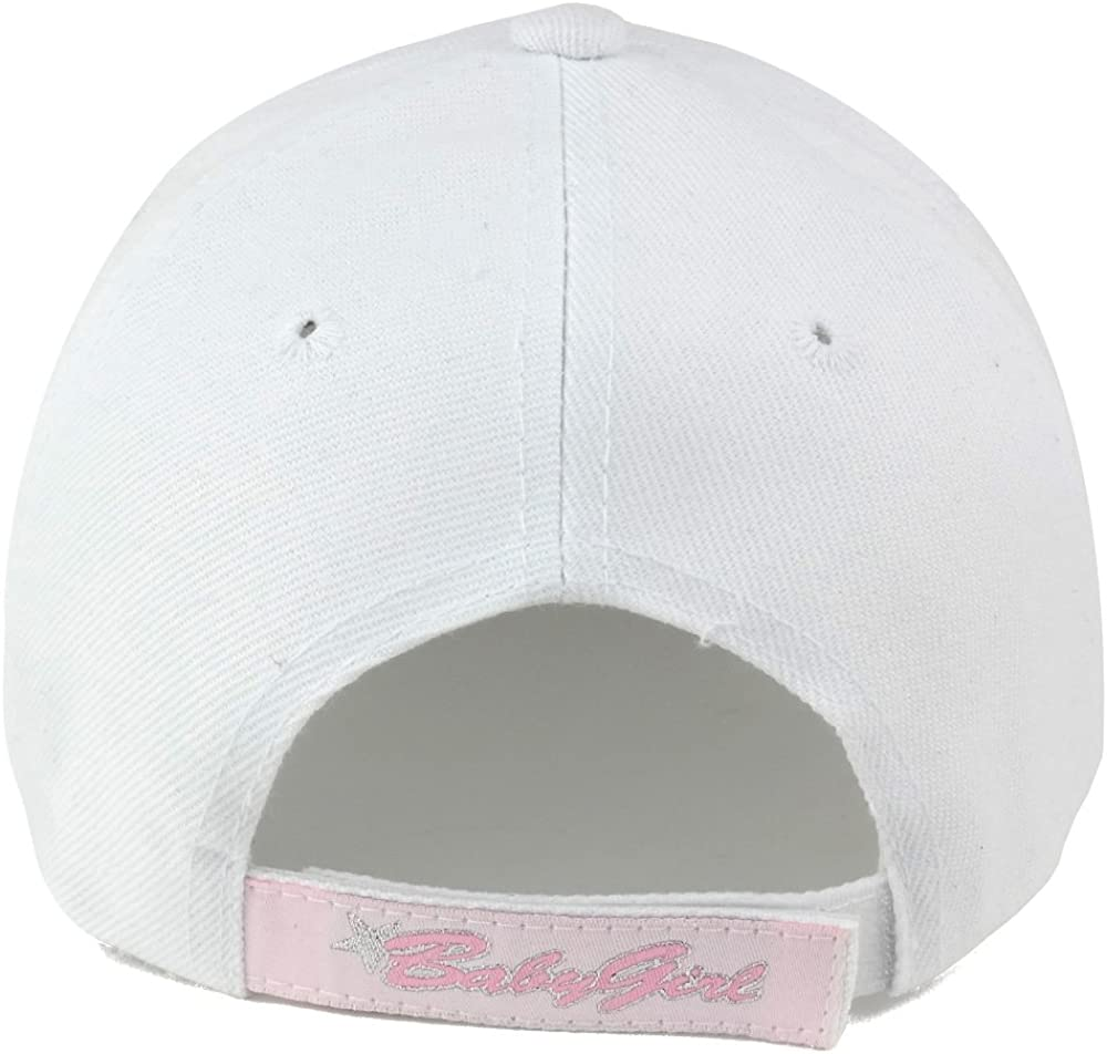 Trendy Apparel Shop Baby Girl Text Kids Size Embroidered Adjustable Baseball Cap