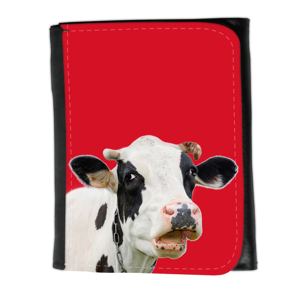 Cartera para hombre // Q05710624 Vaca curiosa Cadmio Rojo ...