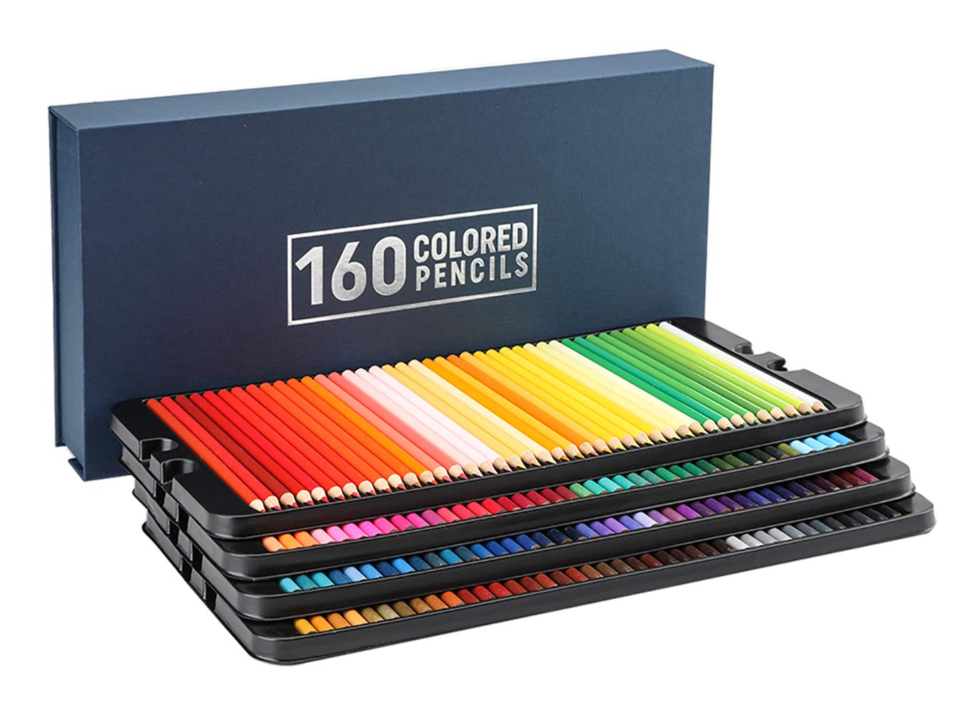 160 Colored Pencils Set - Coloring Pencils for Artists with Case, Ideal Colored Pencils for Adult Coloring Books, Doodling, Sketching by Cezan (Image #1)