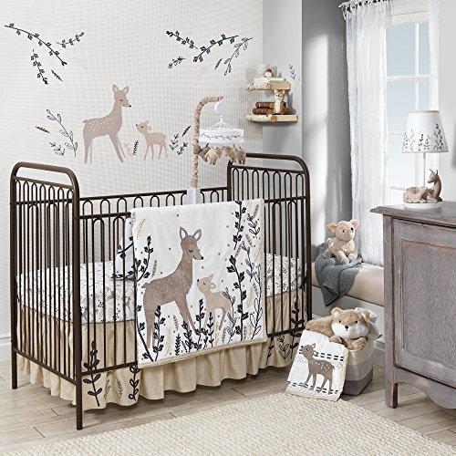 Lambs & Ivy Meadow 3 Piece Crib Bedding Set, Cream/Brown/White [並行輸入品]   B07GJSCYBV