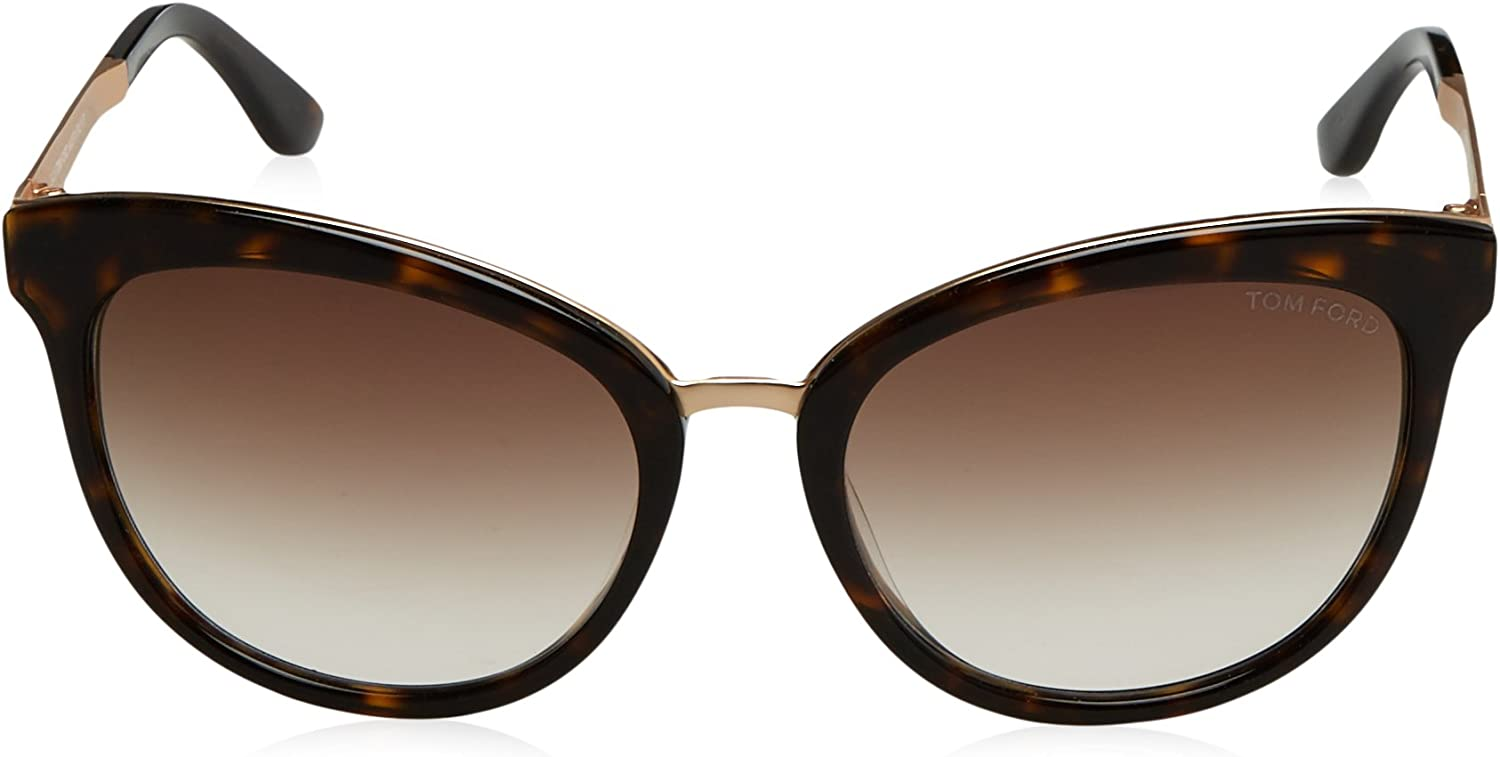 Tom Ford Emma Ft0461 C56 Avana Scura With Brown Specchiato
