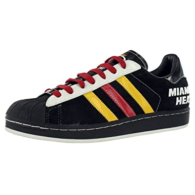 Adidas Men's Superstar Heat Casual Shoe Black/Red/Yellow ...