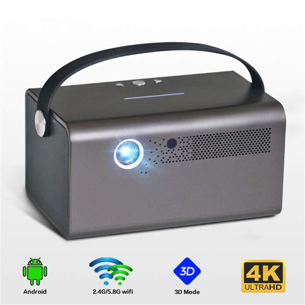 LLVV Proyector DLP portátil 1280x800P, 3800 lúmenes Android WiFi ...