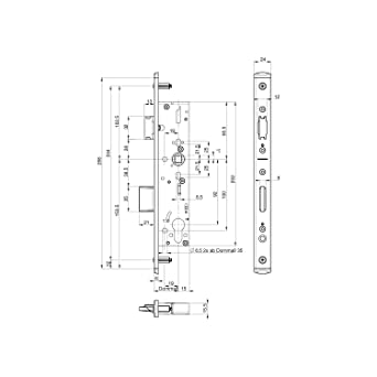 BKS FH de cerradura, mandril: 35 mm, separación: 92 mm ...