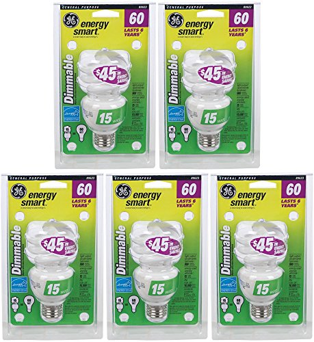 G E Lighting #89623 GE 15W Fluorescent Spiral Bulb (Pack of 5) ()