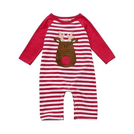 Juego de ropa de bebé, ppbuy ciervo bebé recién nacido Niñas Niños Dibujos Animados rayas