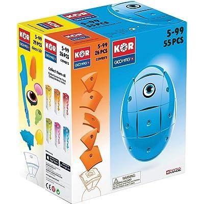 Geomag Bundle KOR BLUE + Cover Orange + Deco Kit, 110 pcs: Toys & Games