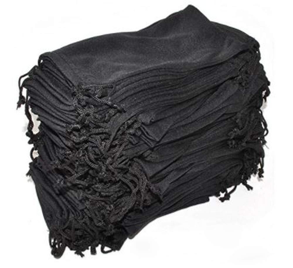 Eyeglasses Pouches Case Bag Black 6, 12, 24,100, 2000 PCS (Black, 2000 PC) by moda