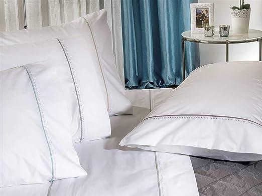 Algodon Blanco - Juego sábanas Sleep 100% algodón percal 210 Hilos ...