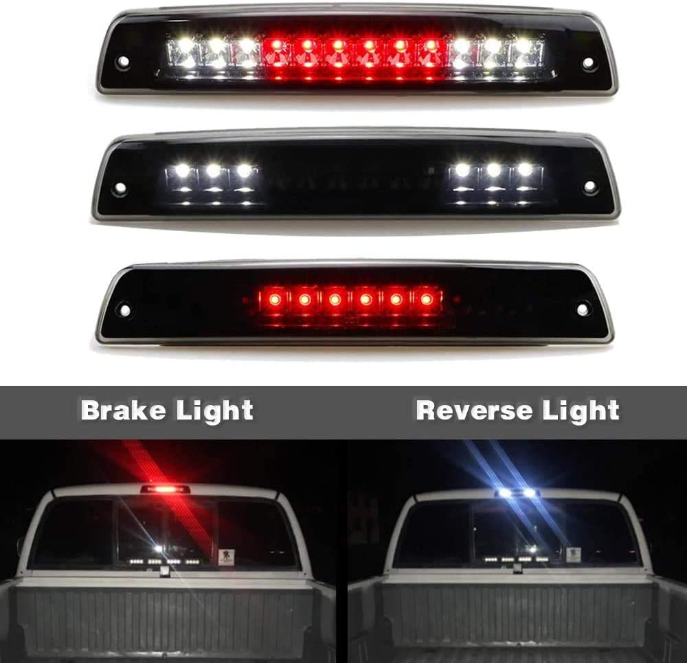 LED 3rd Third High Mount Center Brake Light Lamp Replacement for 2010-2018 Dodge Ram 2500 3500 923-270 09-18 Ram 1500 Rear Trail Cargo Lamp Stop Light Assembly Smoked Replaces 55372082AE 55372082AF
