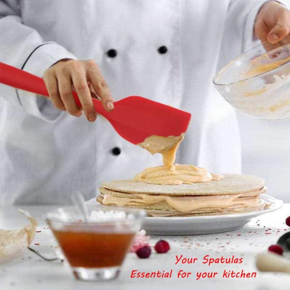 EDCV Antihaft Butter Kochen Silikon Spatel Set Keks Gebäck Küche Kuchen Backspatel Silikon Spatel, WALFOS Rogen rot 21cm Walfos Yellow 21cm
