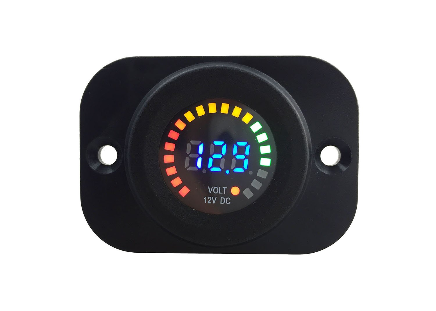 IZTOSS DC 12V Car Motorcycle Waterproof Blue LED Digital Display Voltmeter panel Voltage Gauge with installation kits by IZTOSS