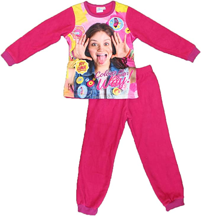 Soy Luna - Pijama Polar Alto + bajo para niña Fucsia 4 años ...
