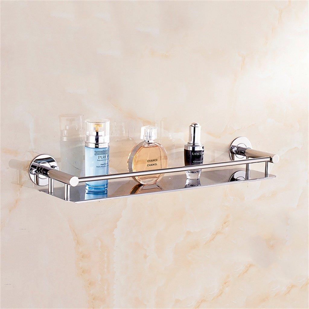 B L 33cm Cqq Shelf Bathroom Shelf Basin Wall Hanging Stainless Steel Bathroom Single Layer Shelf (color   A, Size   L 43cm)