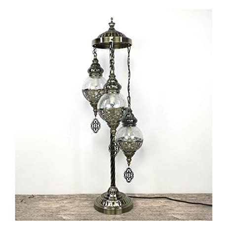 Dapengzhanchi Lámpara de pie estándar Turco Calado 3 ...