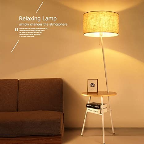 Wellmet Contemporary Combination End Table Floor Lamp With Usb Port