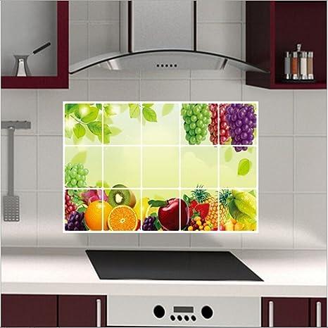 Bell\'adesivo da parete della cucina con decorazione di frutta, a ...