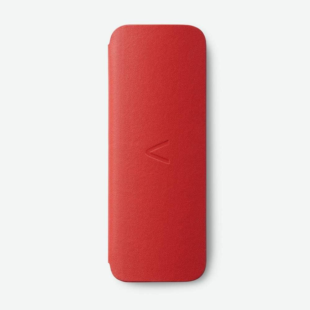AliveCor® KardiaMobile 6L Carry Pod   Estuche con cierre magnético para mantener KardiaMobile 6L protegido   Se adapta al bolsillo   Cuero suave hecho a mano   Azul Marino o Rojo (Rojo)