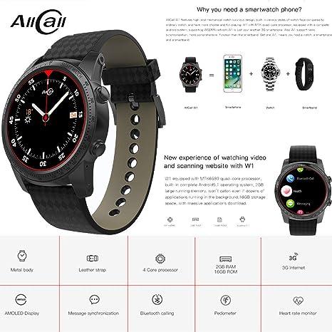 Qomomont AllCall W1 3G Reloj teléfono Inteligente Android ...